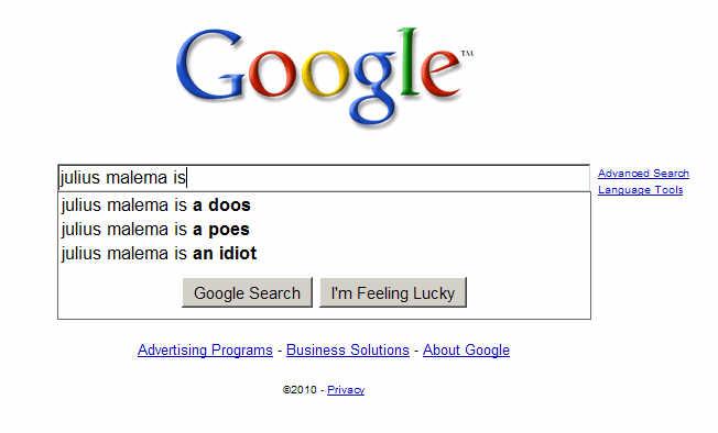 Google Julius Malema